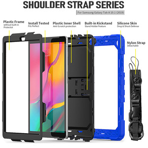 Image 5 - Case for Samsung Tab A 10.1 2019 SM T510 SM T515 T510 Heavy Duty Rugged Shockproof Cover tab A 10.1 2019 in Kickstand+Neck Strap