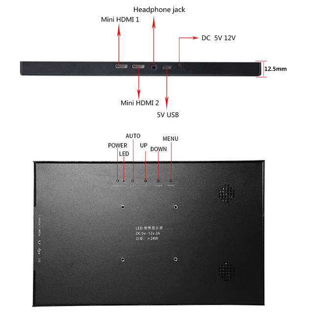 10.1 Pollici 2K 2560*1600 Ips Dello Schermo di Tocco di Gioco Portatile Monitor Lcd Led Display PS3/4 Xbox360 display Tablet per Finestre 7 8 10