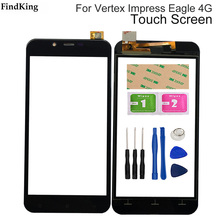 Mobile Touch Screen For Vestex Impress Eagle 4G Touch Screen Front Glass Digitizer Panel Lens Sensor 3M Glue Tools