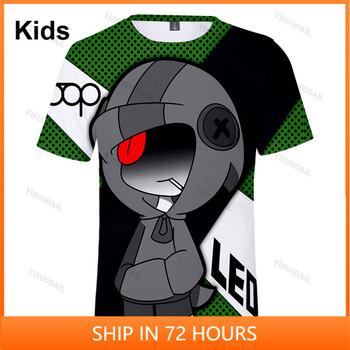 Sandy Max Spike and Star 6 do 19 lat dzieci Leon koszula strzelanka PRIMO 3D T-shirt chłopcy dziewczęta kreskówkowe topy nastolatki ubrania tanie i dobre opinie FORTNITE CN (pochodzenie) 25-36m 4-6y 7-12y 12 + y POLIESTER Movie Anime Gaming Cosplay 3D Digital Printed Slant Patch Pocket