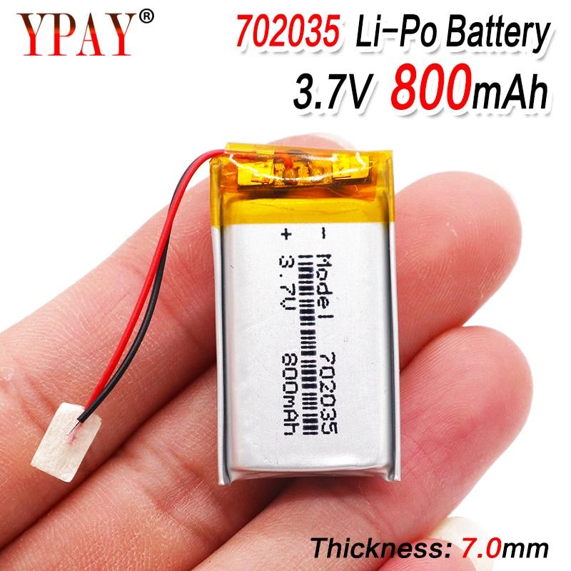 Полимерная литий-ионная батарея 3,7 в 702035 может быть настроена оптовая продажа CE FCC ROHS MSDS сертификация качества