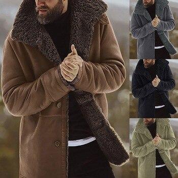 MJARTORIA 2020 Men Coat Winter Thicken Warm Men Jacket Fleece Veste Homme Men Parkas Vintage Outwear