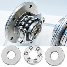 цена на 10Pcs Thrust Ball Bearing Miniature Flat Steel Bearings Set  linear slide bearings