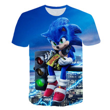 Funny T-shirts 3D baby Boys Girl sonic the hedgehog Children Costume Supersonic