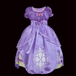 Рождественское платье Софии для девочек; Вечерние платья с пышными рукавами и цветочным рисунком для девочек; Костюм принцессы Софии на Хэл...