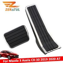 Zeratul Auto per Mazda 3 Axela CX 30 2019 2020 AT Gas Pedale del Freno Della Copertura Parti di Ricambio In Acciaio Inox Pedali Auto pad