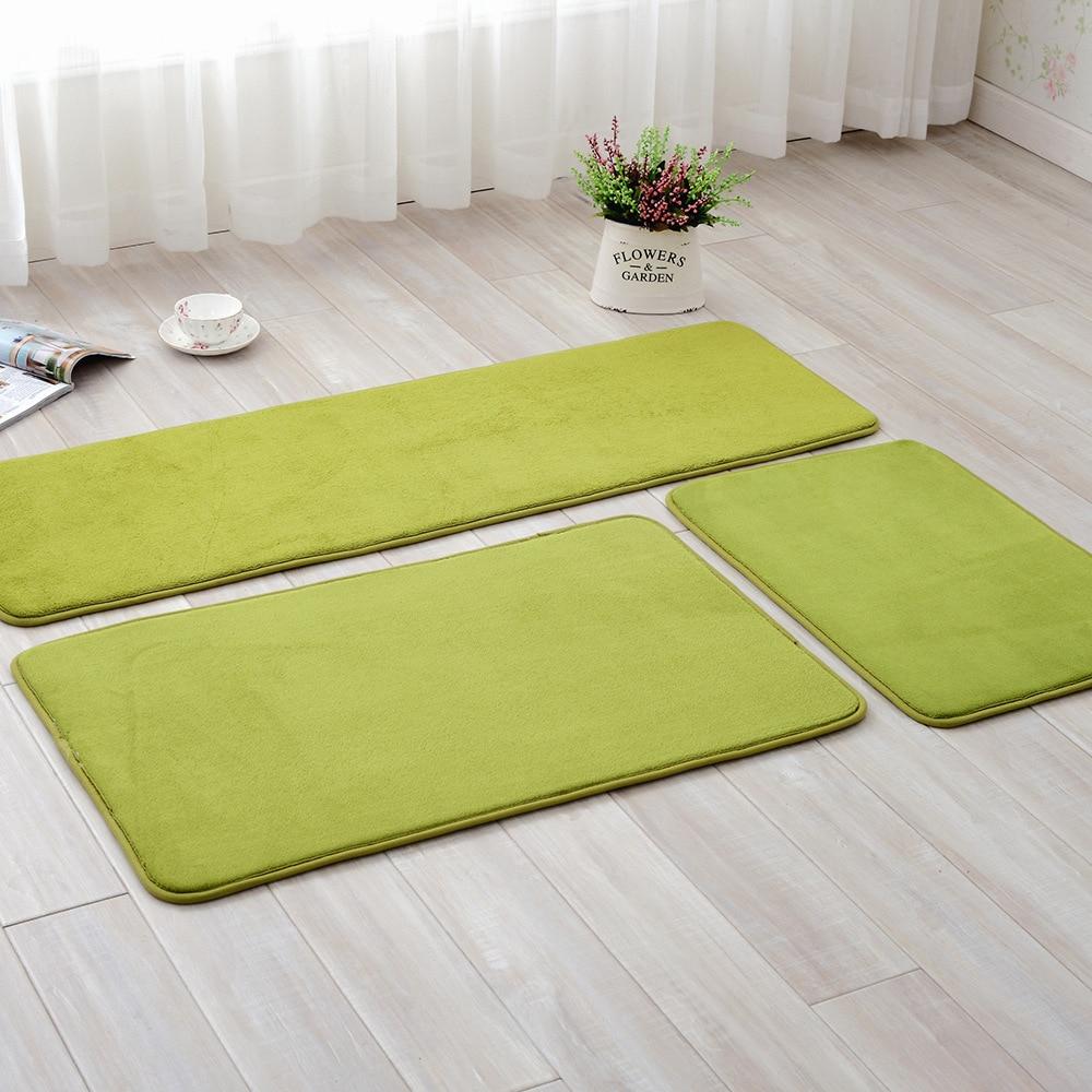 Living Room/bedroom Area Rugs Gray Memory Foam Kitchen Absorbent Antiskid Mat Coral Velvet Home Entrance Carpets