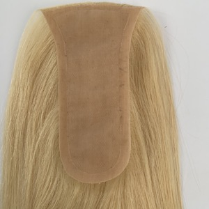 """Image 4 - Neitsi 14 """"14*7 سنتيمتر 5.5*2.75"""" الحرير قاعدة العذراء بشرة امرأة شعر ريمي باروكة توبر شعر طبيعي قطع الشعر المستعار صالون جودة"""