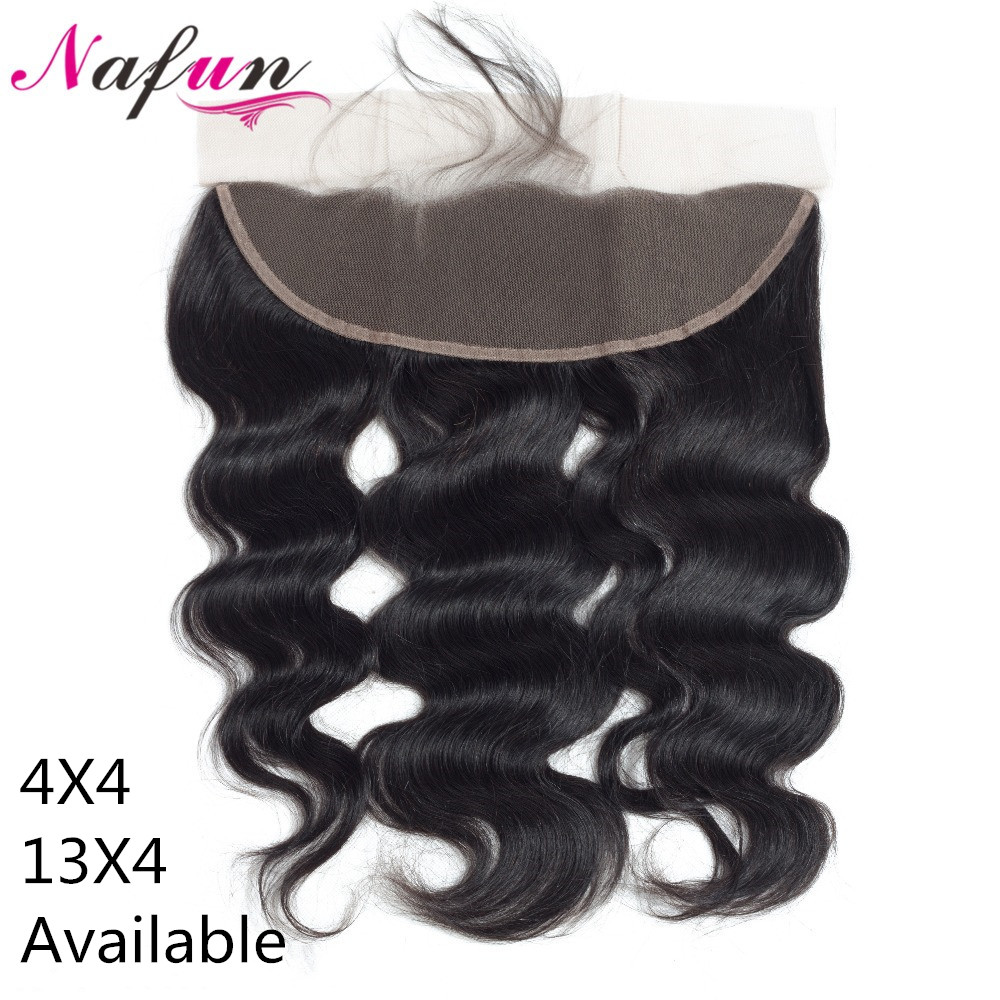 NAFUN Brazilian Body Wave Lace Frontal Closure Human Hair Closure Remy Lace Closures 22Inch Top Closure Pre Plucked Hair Vendors