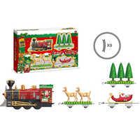 2020 NEW Classic locomotive electric rail car Christmas train assembled track Children's gift electric rail train