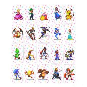 20 Pcs impermeable de alta calidad de impresión de etiqueta NFC tarjeta de juego Super Smash Bros final Ntag215 NS interruptor Wiiu