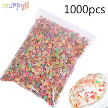 1000pcs Fruit Slices Addition For Fimo Nail Art Slime Fruit Charm Filler For diy Slime Accessories Lizun Supplies Decoration Toy цена