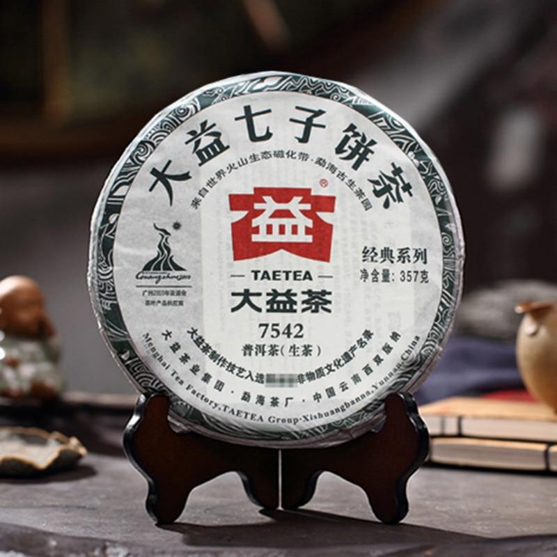 2010 Year Puer Raw Tea 357g Premium TAETEA 7542 Raw Cake Sheng Chinese Dayi Lose Weight Tea Pu-erh Pu Erh Tea 357g