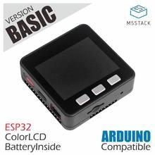 M5stack oferta de estoque oficial! Esp32 kit de desenvolvimento núcleo básico extensível micro controle wi fi ble iot placa protótipo para arduino