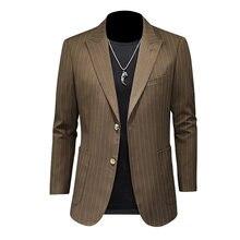Новый бренд 2021 костюм в полоску куртка Свадебные Жених певица