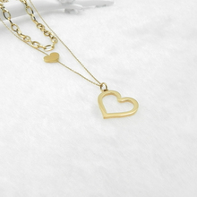 PINSHANG best friend necklace Stainless steel chains for women accesories for women jewelry chain on neck Pendants and necklaces cheap Pendant Necklaces CN(Origin) Classic O-chain Metal Heart All Compatible Anniversary none 17mm Fashion NG-20-15 Gold stainless steel Titanium steel
