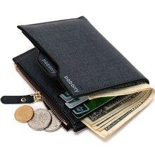 Кожаные кошельки для мужчин, кошелек с отделением для монет, ID, кредитный держатель для карт, кошелек на молнии, мужской кошелек с отделением для монет, Billetera Hombre