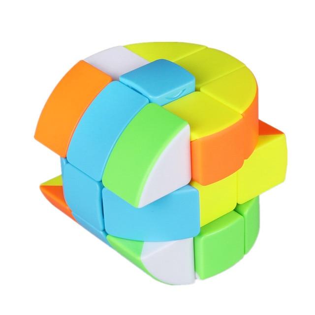 Qiyi Barrel Cube 3x3x3 Stickerless Strange-Shape Magic Cube Twisty Mgaic Cube Learning&Educational Puzzle Toys 5