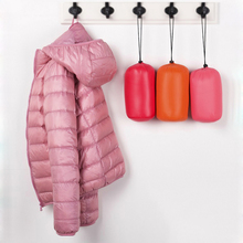 Hooded Women Winter Jacket Coat Ultra Light White Duck Fur Down Slim Bomber Portable Pink Black