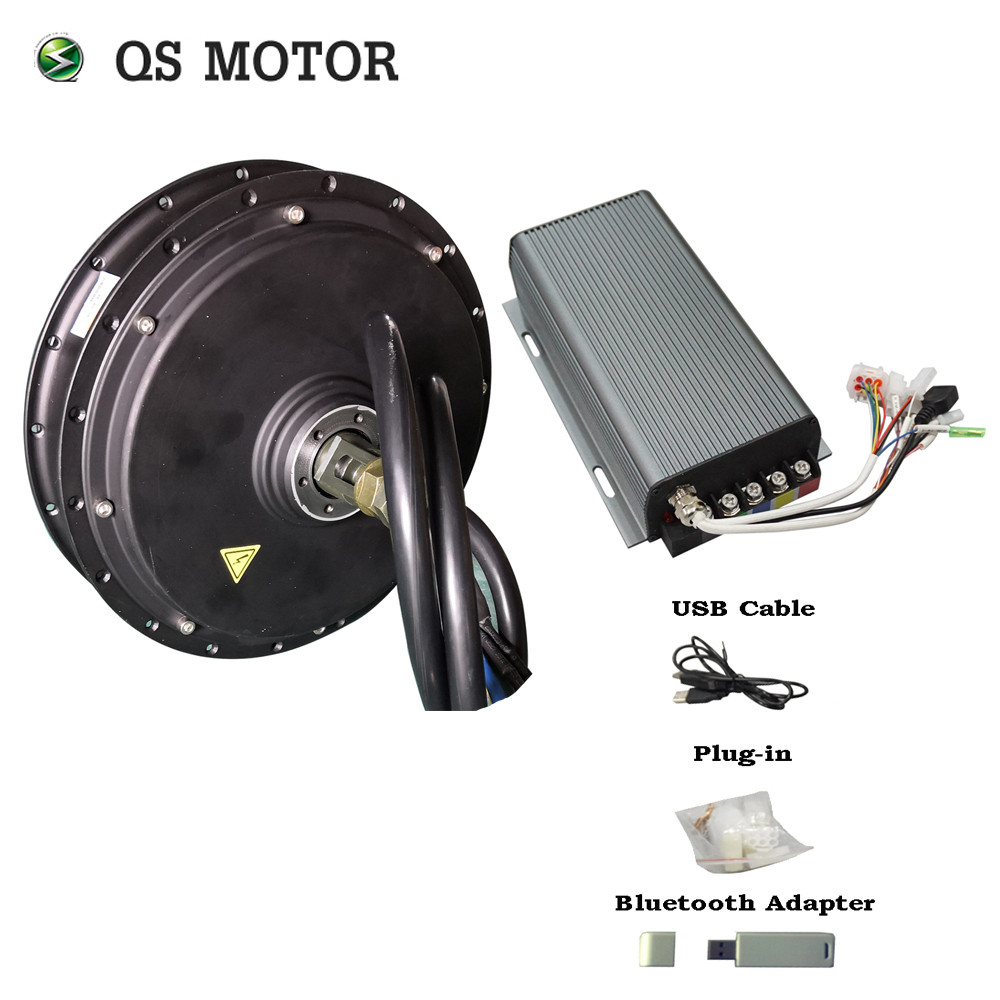 Hot sale QS MOTOR E-spoke <font><b>3000W</b></font> 205 50H V3 V3I Hub Motor match svmc72150 sabvoton controller kits for electric bicycle image