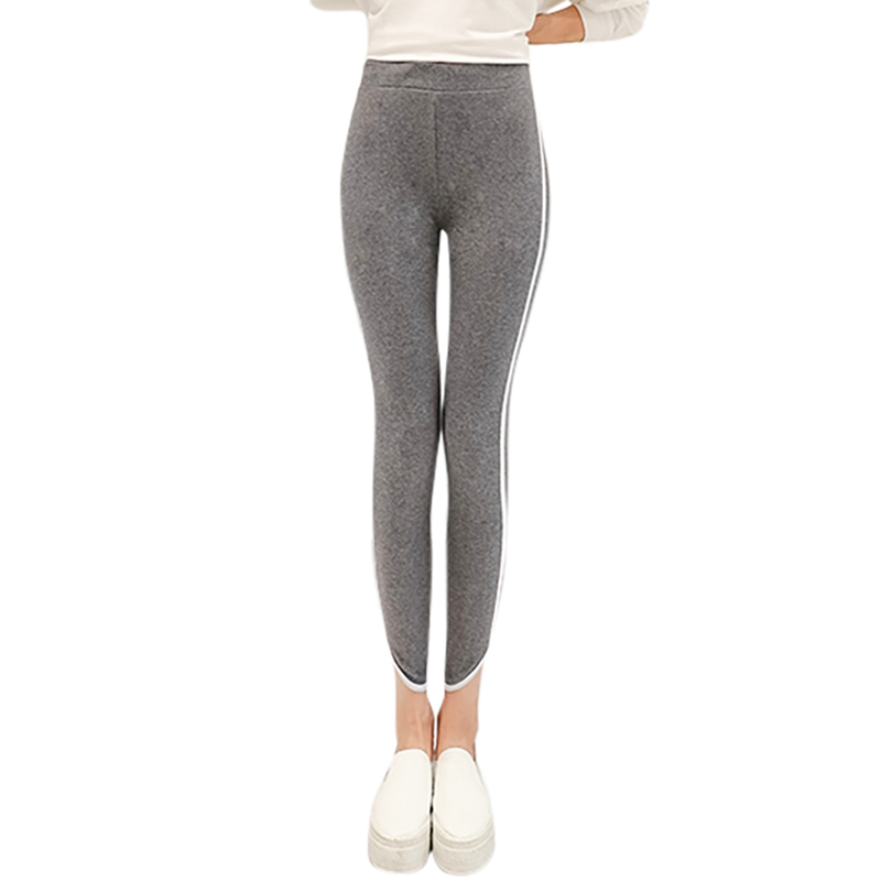 Autumn New Heart-shaped Foot Cotton Leggings Stretch Large Size Trousers Women's Slim Slimming Sweatpants Y5