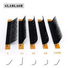 L/l +/lc/ld/lu(m)/n curl 16 рядов накладные ресницы норковый