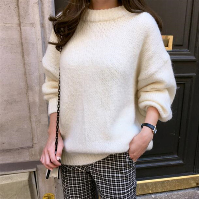 Ladies Chunky Round Neck Sweater 3