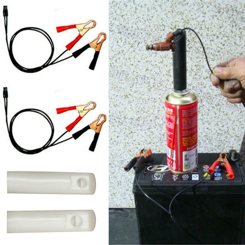 Auto dysza uderzenia gorąca z zaczerwienieniem pojazdu urządzenie do czyszczenia wtryskiwacza paliwa Adapter DIY zestaw dysz urządzenia do oczyszczania z 2 dysz czysty samochód silnik uniwersalny