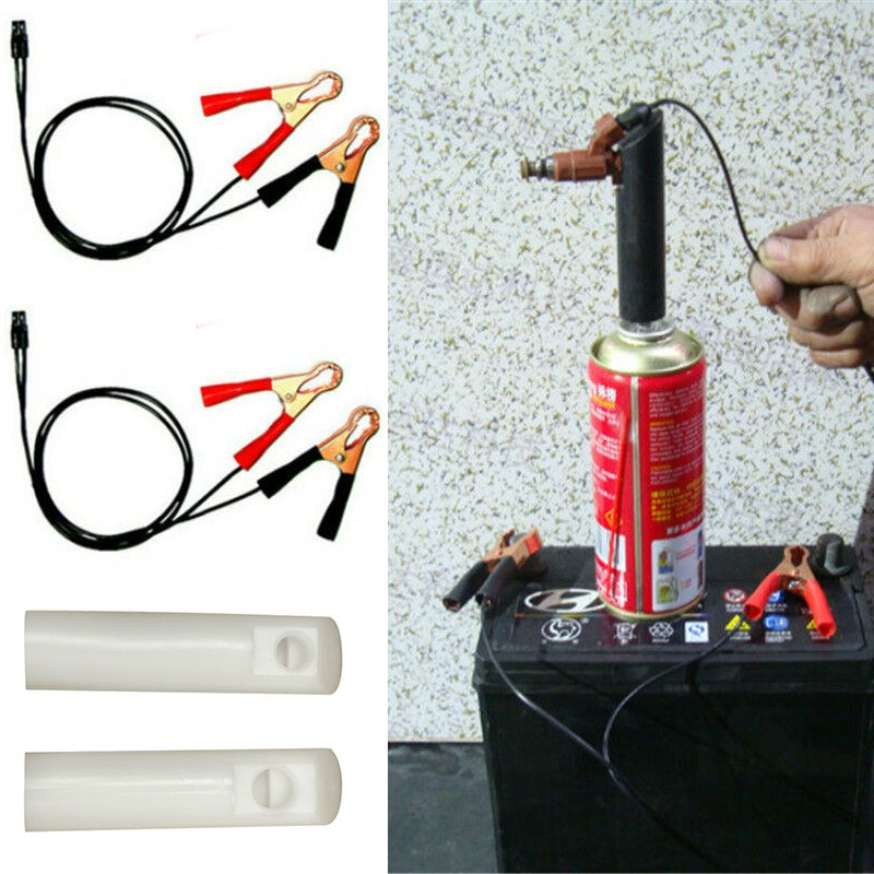Bocal automático de nivelamento do veículo injector combustível mais limpo adaptador kit diy bico ferramenta limpeza com 2 bocal limpo do motor carro universal