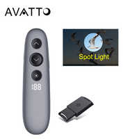 AVATTO H100 Spotlight Magnify Presentation Remote Control with Air Mouse , 2.4G Wireless PPT Presenter Digital Laser Pointer