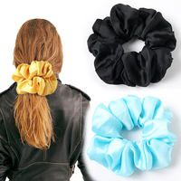 Oversized Scrunchies Big Rubber Hair Ties Plain Elastic Hair Bands Girs Ponytail Holder Silk Scrunchie Women Hair Accessories