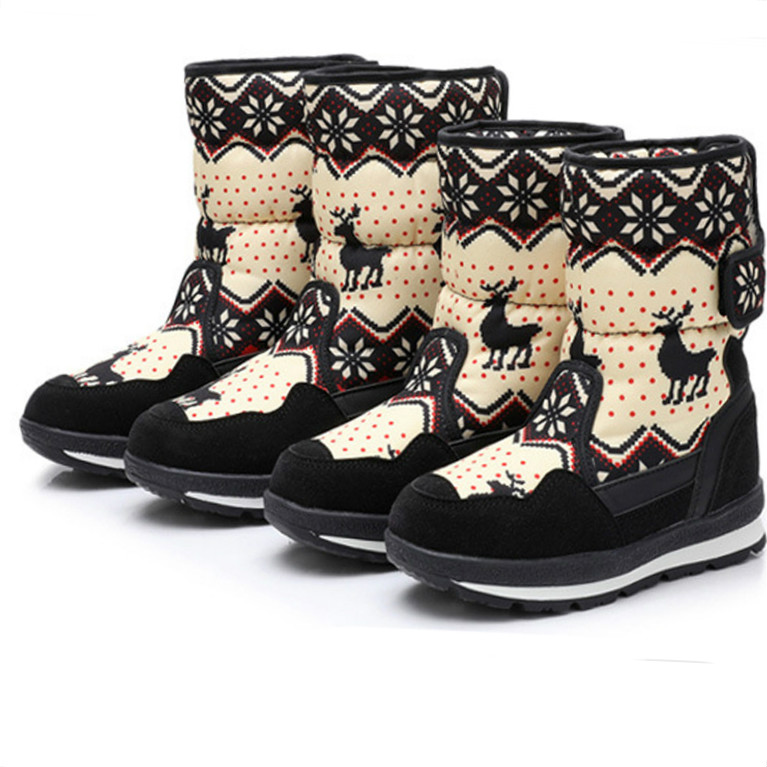 Girls Boots Kids Baby Toddler Shoes Child Winter Warm Snow Boots Shoes Plush Thicker Sole Boys Girls Snow Boots Shoes Big Size
