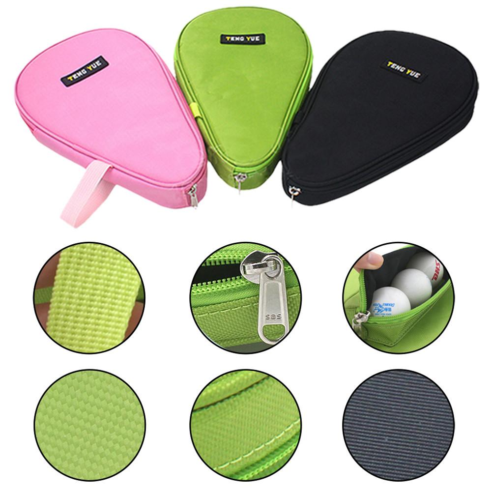 Pro Table Tennis Racket Rackets Bat Bag Cover Storage Case For 1 Ping Pong Paddle Bat 3 Balls Table Tennis Racket Storage Case