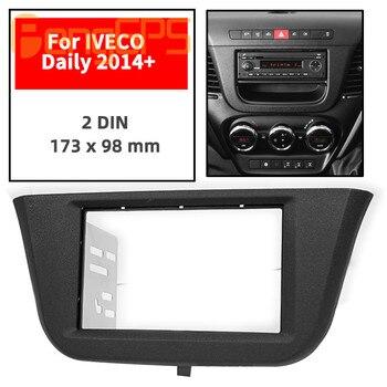 11-744 Car Radio Fascia Panel for IVECO Daily 2014+ Stereo Fascia Dash CD Trim Installation Kit