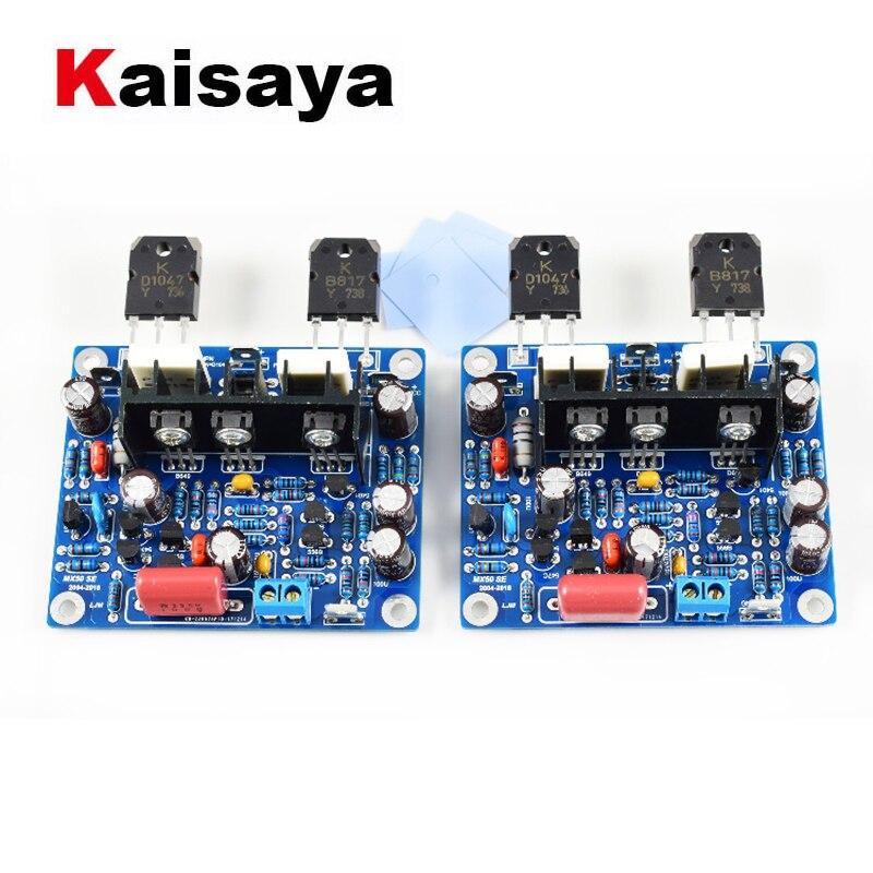 2 pçs de alta fidelidade mx50 se 2.0 duplo canal 2x100w amplificador potência estéreo kit diy e placa terminada