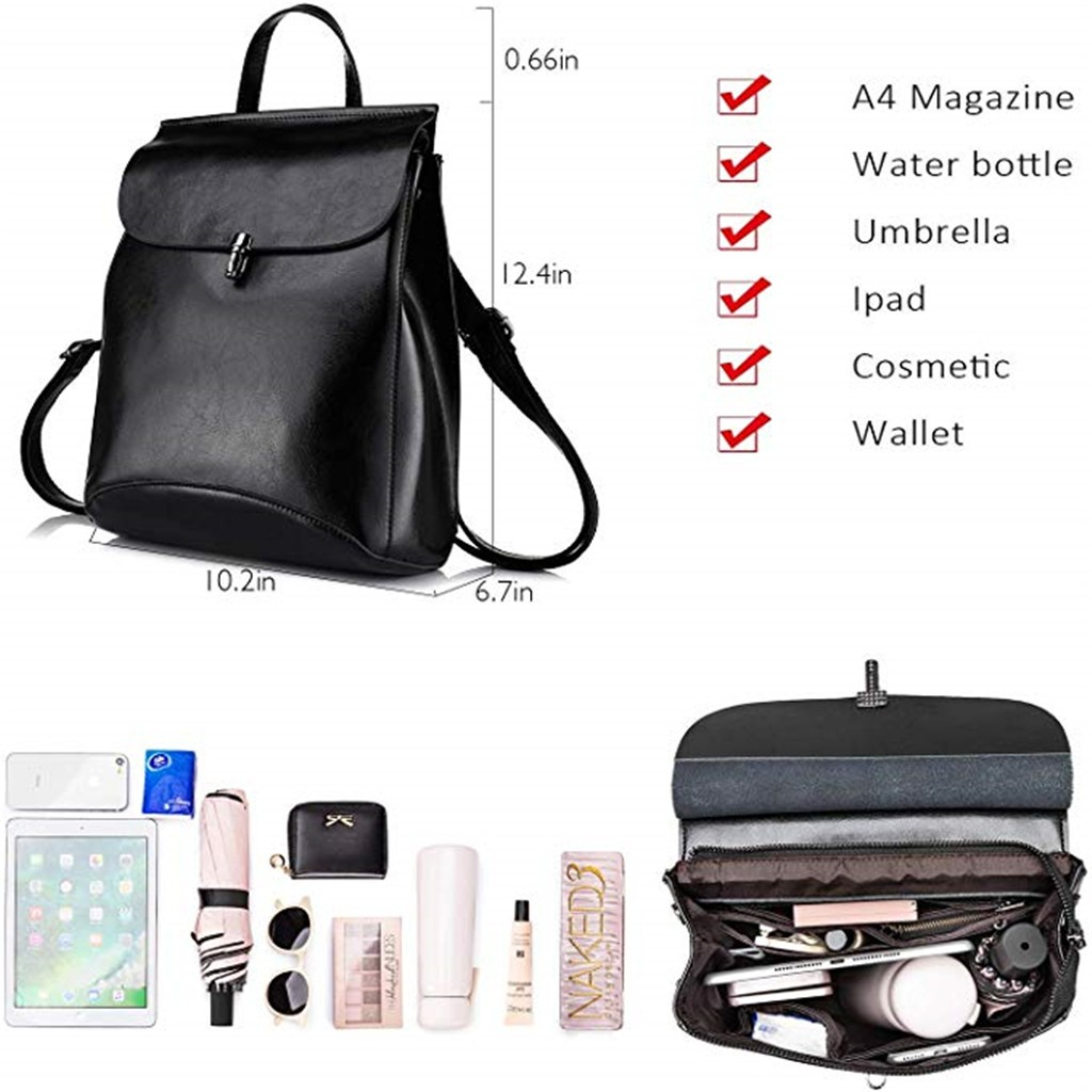 Ha0c7815164984b979a4a1f193e211073b - Fashion Ladies Shoulder Leather Multi-Layer Backpack Women's Shoulder Bag Black