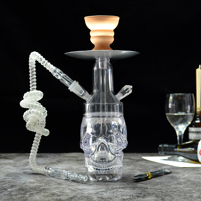 Newest unique Skull led shisha narguile hookah set colorful Hookah Narguile Shisha with bong weed Accessorie chicha electronique 5