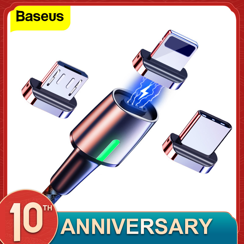 Baseus Magnetic Micro USB Cable For iPhone Samsung Type C Charging Cable Magnet Charger Adapter USB Type C Mobile Phone Cables|Mobile Phone Cables| |  - AliExpress