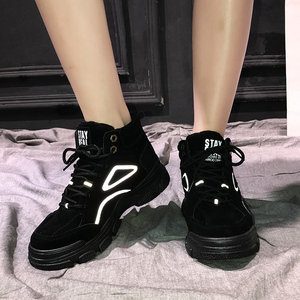 Image 5 - SKRENEDS Women Casual Sneakers Winter Sneakers Plush Fur Warm Women Shoes Lace Up Female Boots Comrfortable Platform Shoes Women