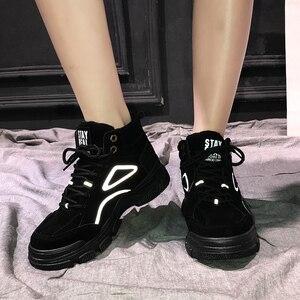Image 5 - SKRENEDS נשים סניקרס מקרית חורף סניקרס בפלאש פרווה חם נשים נעלי תחרה עד נקבה מגפי Comrfortable פלטפורמת נעלי נשים