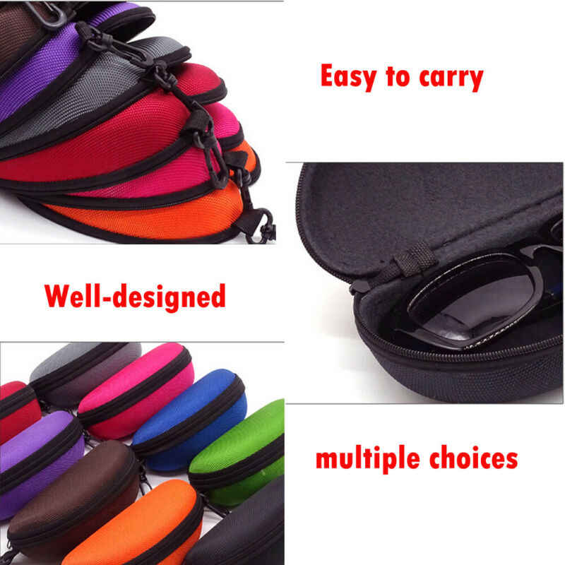 Nouveau lunettes de soleil boîte de rangement lunettes étui de transport sac dur fermeture éclair boîte voyage Pack pochette