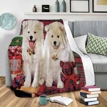 Забавное рождественское Флисовое одеяло с 3d принтом носимые
