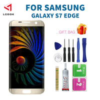 100% Tested LCD For Samsung Galaxy S7 Edge G935 G935F LCD Display Touch Screen Digitizer Assembly Panel For S7 Edge with Frame