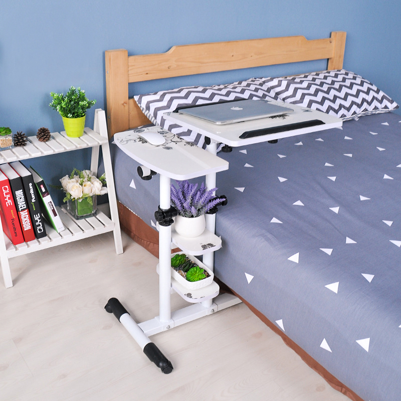 Foldable Laptop Desk Bed Portable Computer Table Adjustable Laptop Rotate Bed Table Can Be Lifted Standing Desk
