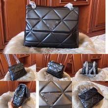 Sasa luxury brand sheepskin leather bag for lady soft should