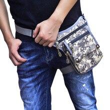 Мужские талии сумки многофункциональный мужчины бедра ноги падение сумка камуфляж нейлон водонепроницаемый путешествия езда сумки фанни пакеты сигареты
