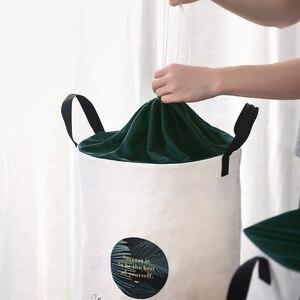 Image 3 - 세탁 바구니 접는 더러운 옷 대용량 저장 상자 주최자 세탁 패션 스타일 YORO