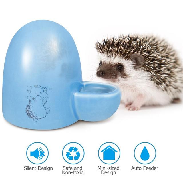 Creative Pet Drinking Bottle Slient Feeder Ceramics Slient Water Dispenser For Small Pets Guinea Pig Hamster Hedgehog Bird