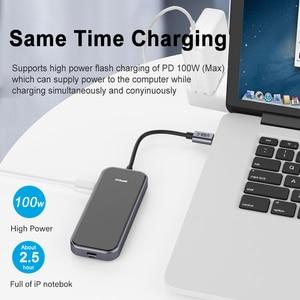 Image 4 - QGeeM USB C Hub for Macbook Pro متعدد USB 3.1 Hub Type C 3.0 Hub HDMI PD محول for iPad Pro OTG الفاصل شحن USB C Dock