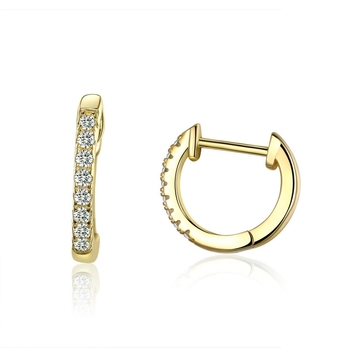 WOSTU Hot Sale 925 Sterling Silver & Gold Color Small Circle Hoop Earrings For Women Birthday Simple Noble Jewelry Gift CQE498